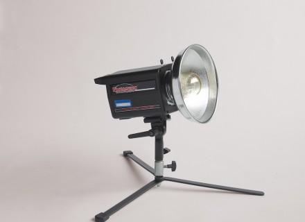 Photogenic light on stand.