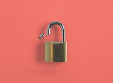 Picture of a broken padlock